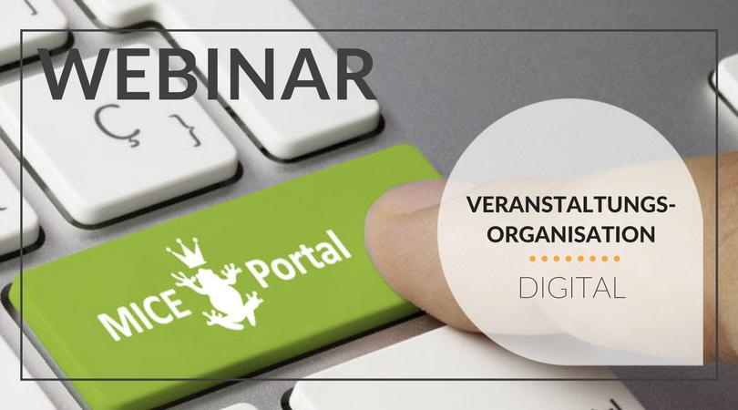 Webinar Digitale Veranstaltungsorganisation