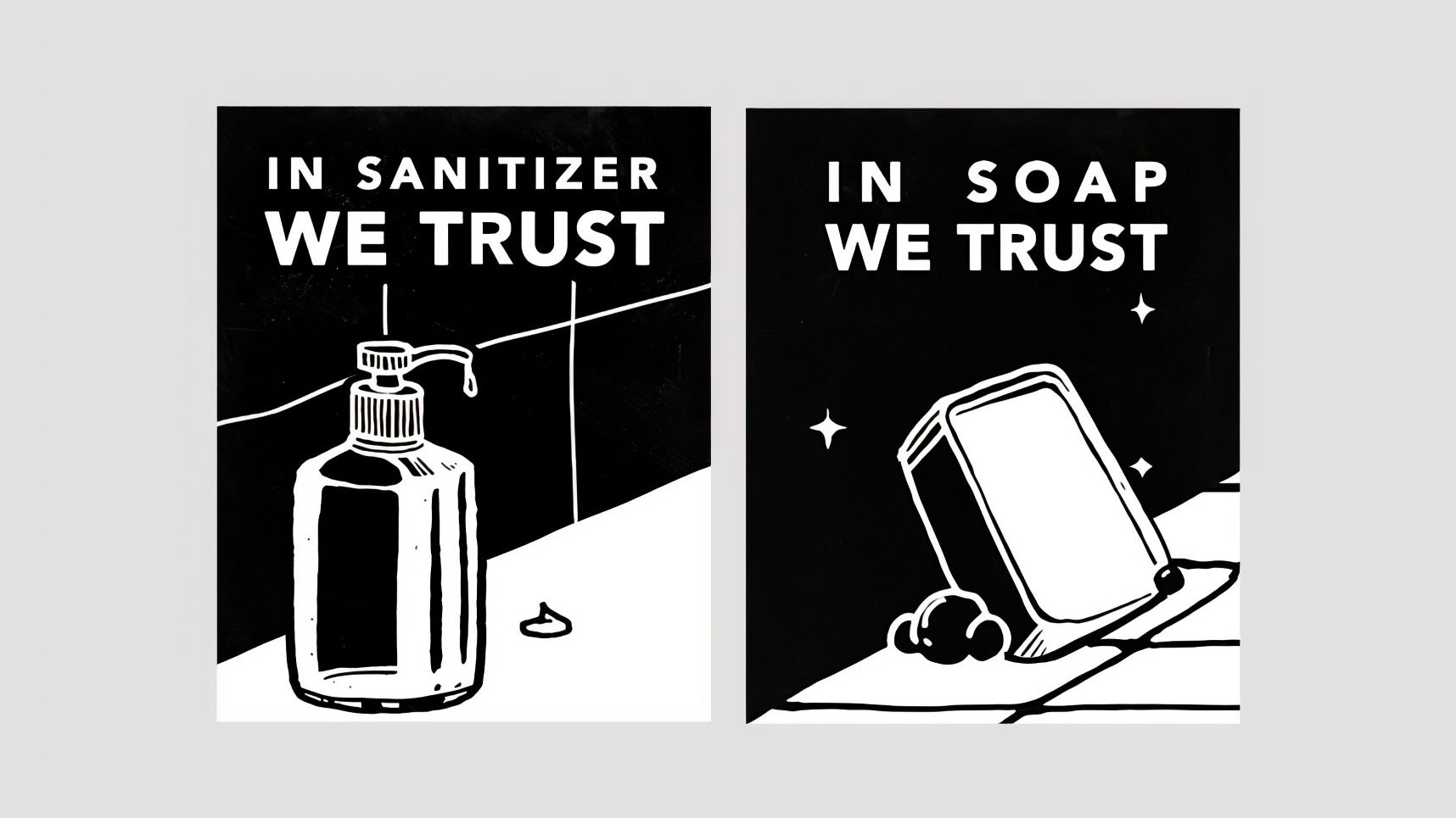 Flyer in sanitize we trust